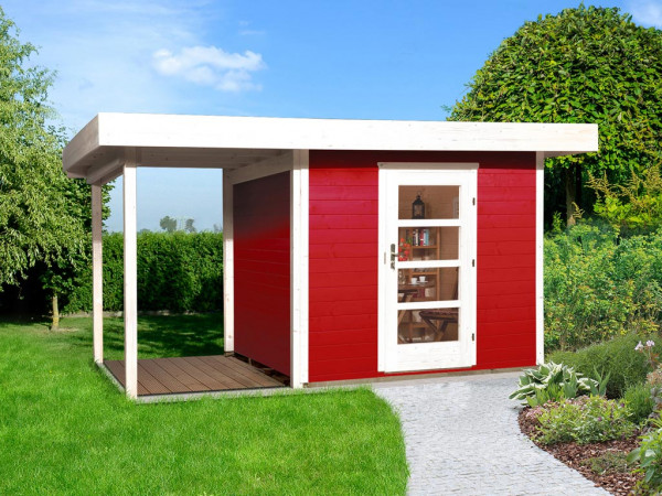 Gartenhaus Designhaus 172 A Gr. 1 28 mm schwedenrot lasiert