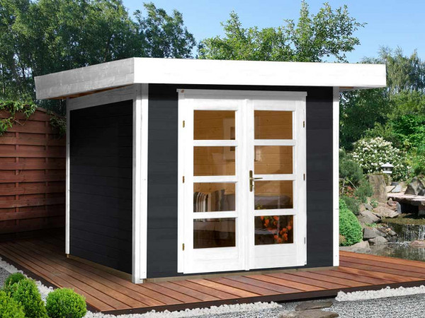 Gartenhaus Designhaus 126 Plus Gr. 3 anthrazit