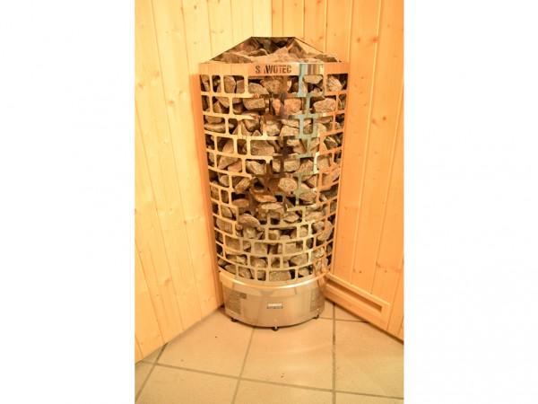 Saunaofen Design-Eck-Ofen 7,5 kW inkl. Saunasteine
