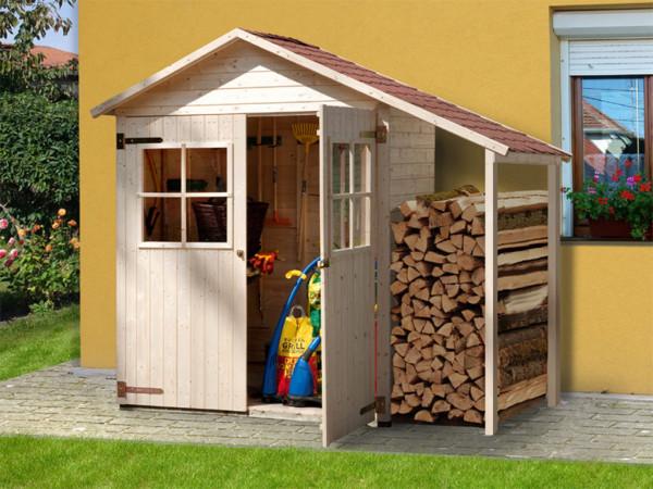Garten-Terrassenschrank 357 A 14 mm naturbelassen