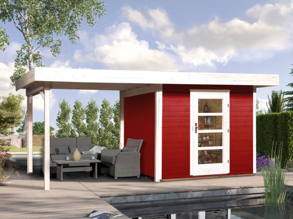 Gartenhaus Designhaus 172 B Gr. 1 28 mm schwedenrot