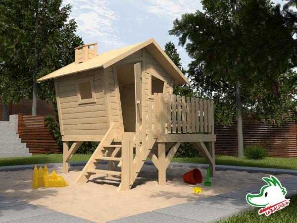 Spielhaus Tabaluga Abenteuerspielhaus Lotti naturbelassen