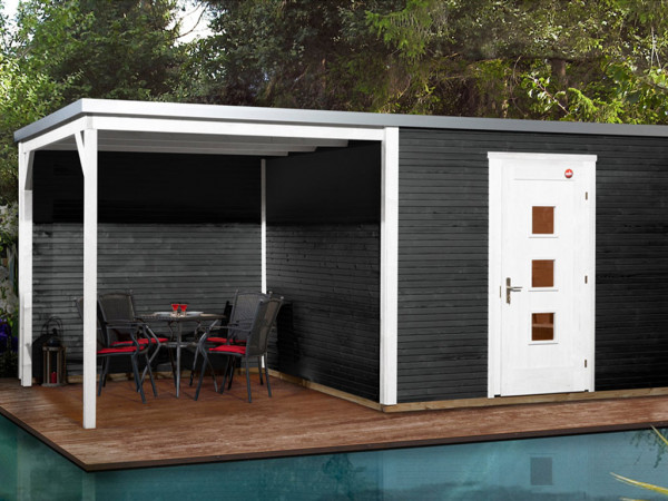 Gartenhaus Designhaus wekaLine 413 B Gr. 2 45 mm anthrazit