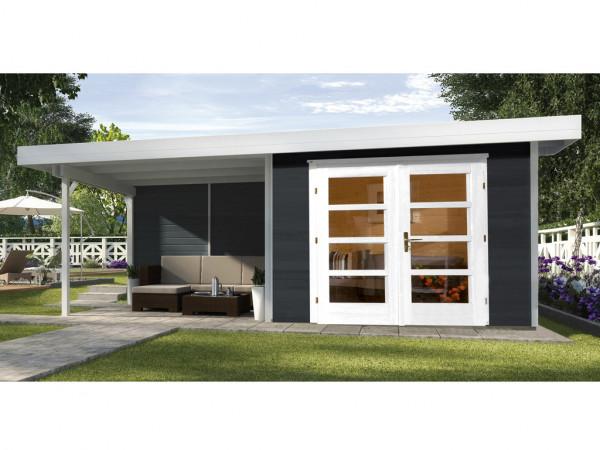 Gartenhaus Designhaus 126 Plus B Gr. 2 anthrazit