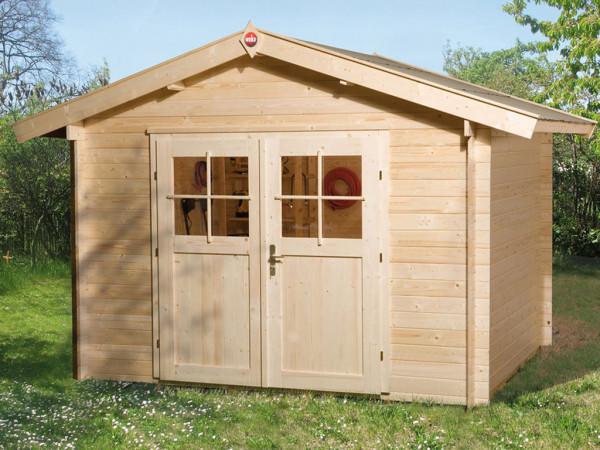 Gartenhaus Premium28 Gr. 4 28 mm natubelassen mit 20 cm Vordach