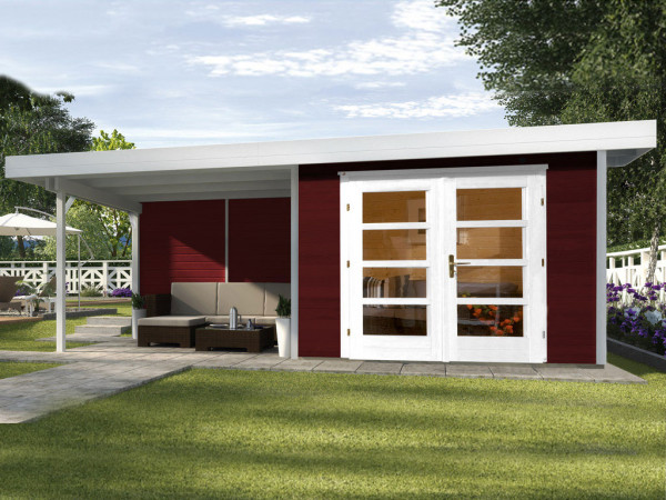 Gartenhaus Designhaus 126 B Gr. 2 28 mm schwedenrot