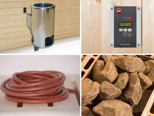 Saunaofen Set 1 mit 3,6 kW OS inkl. externer Steuerung