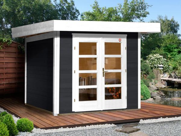 Gartenhaus Designhaus 126 Gr. 3 28 mm anthrazit