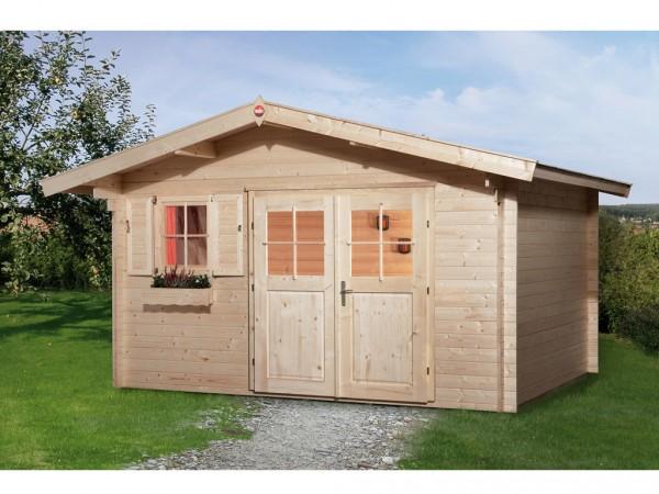 Gartenhaus Blockbohlenhaus 111 Gr. 2 28 mm naturbelassen