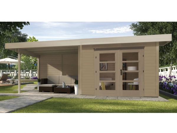 Gartenhaus Designhaus 126 B Gr. 1 28 mm naturbelassen