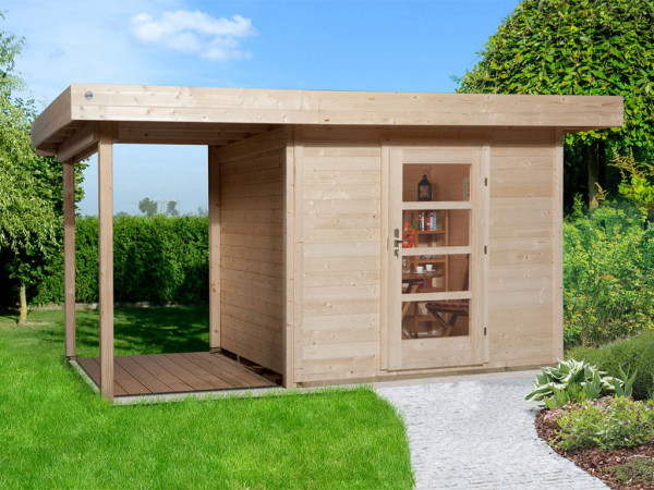 Gartenhaus Designhaus 172 A Gr.1 28 mm naturbelassen