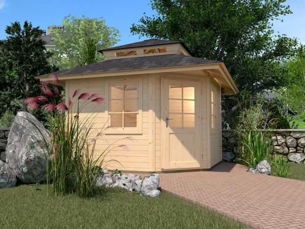 Gartenhaus 149 A Gr. 1 28 mm naturbelassen