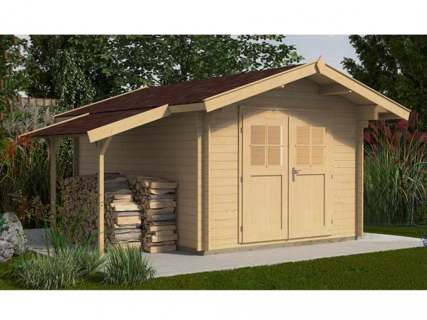 Gartenhaus Premium 28 ,VD60, DT 300 x 250 mit Schleppdach