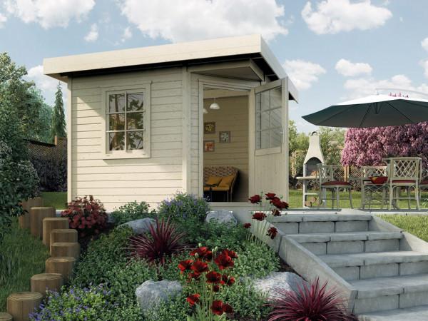 """Gartenhaus Designhaus """"213 Gr. 1"""" 28 mm naturbelassen"""