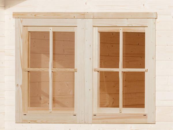 Doppelfenster für 21 mm/28 mm, naturbelassen