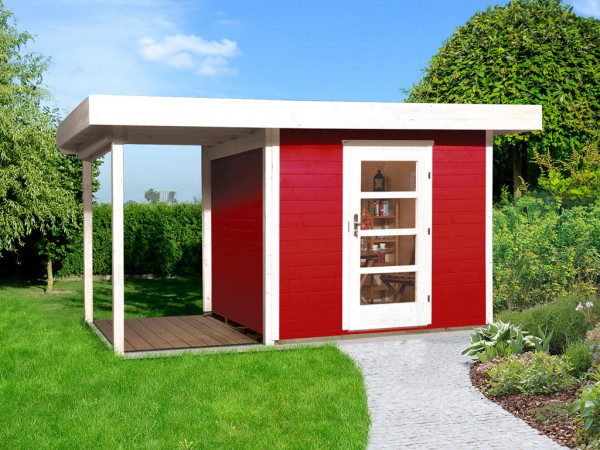 Gartenhaus Designhaus 172 A Gr. 2 28 mm schwedenrot lasiert