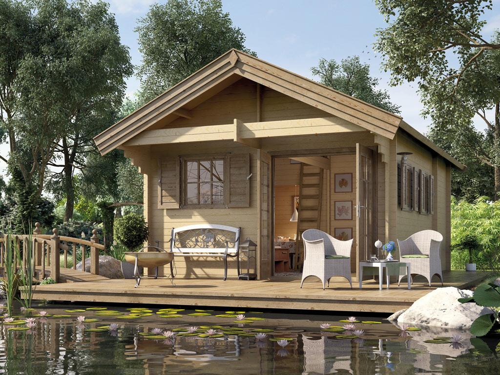 Gartenhaus Weekendhaus 155 45 Mm Naturbelassen Ferienhauser Gartenhauser Garten Weka Shop24