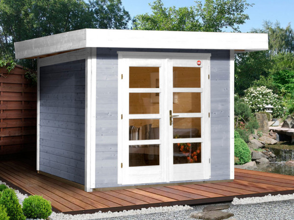 Gartenhaus Designhaus 126 Gr. 2 28 mm grau
