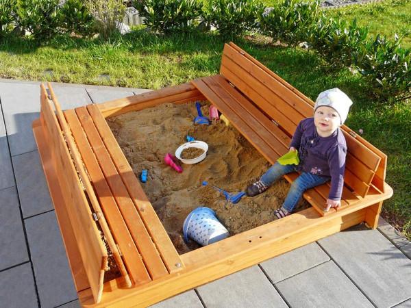 Sandkasten 196 B Gr. 2 honigbraun lasiert