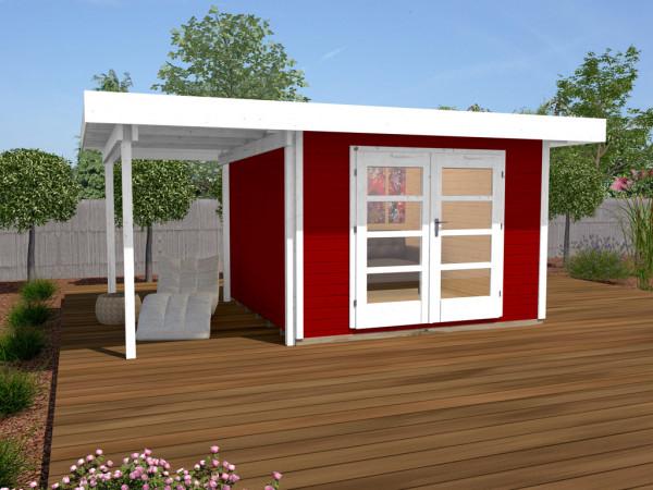 Gartenhaus Designhaus 126 A Gr. 2 28 mm schwedenrot