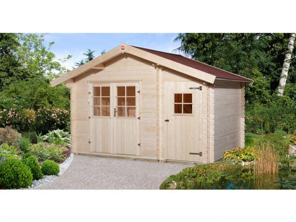 Gartenhaus 253 Gr. 1 28 mm naturbelassen