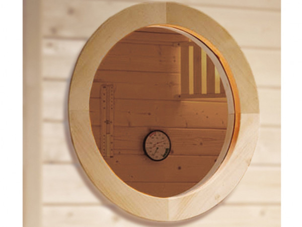 Rundfenster für 45 mm Massivholzsaunen