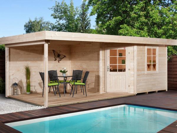 Gartenhaus Designhaus 213 B Gr. 1 28 mm naturbelassen