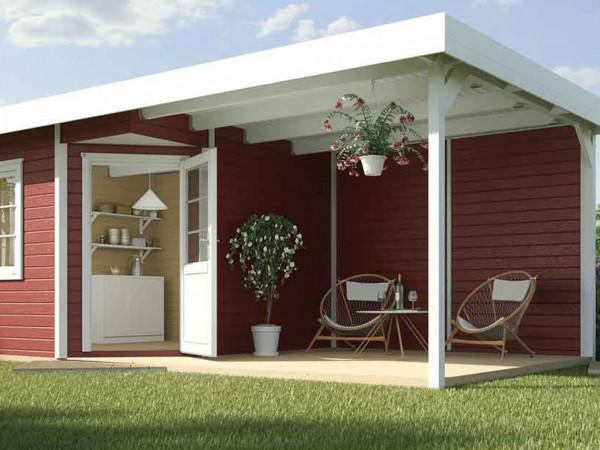 Gartenhaus Designhaus 213 Plus B Gr. 1 schwedenrot