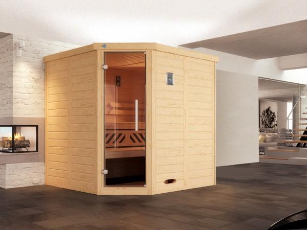 Design-Sauna KEMI Eck 1 GT, ohne Ofen