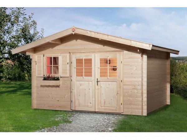 """Gartenhaus """"111 Gr. 1"""" 28 mm naturbelassen"""