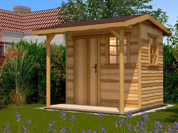 Gartenhaus 820 Gr. 2 16 mm naturbelassen