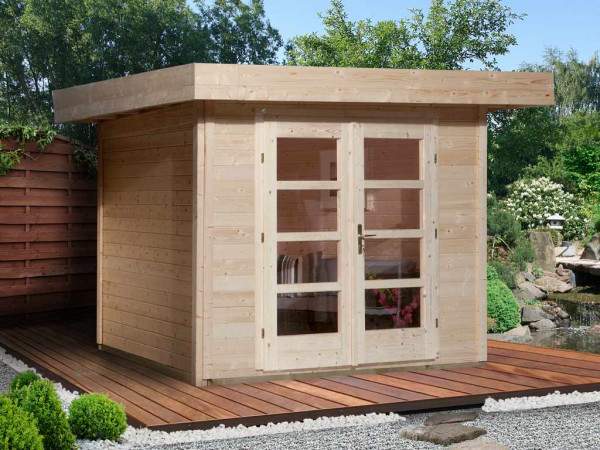Gartenhaus Designhaus 126 Plus Gr. 1 natur