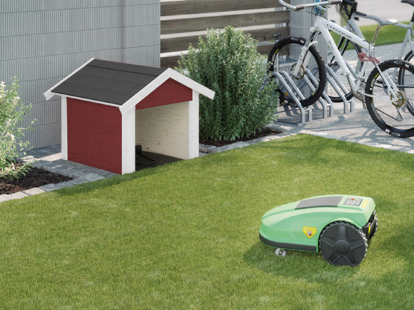 Mähroboter-Garage 367 21 mm schwedenrot lasiert