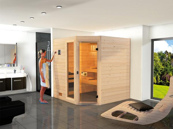 WE-Sauna Massiv. Valida Eck 2 GTF, ohne Ofen