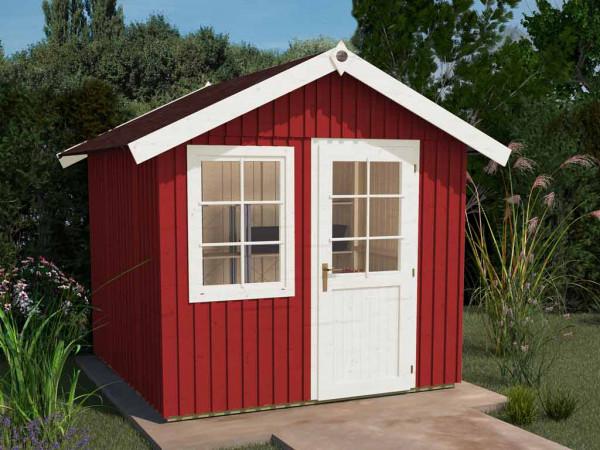Schwedenhaus Gr. 1 Tür und Fenster, schwedenrot