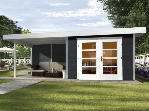 Gartenhaus Designhaus 126 B Gr. 1 28 mm anthrazit