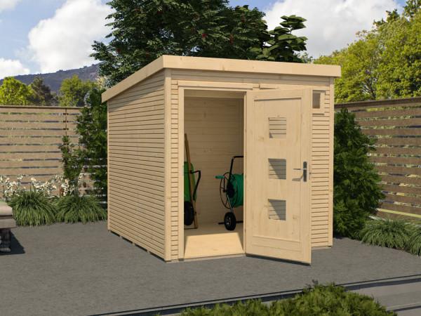 Gartenhaus Designhaus wekaLine 171 Gr. 2 28 mm naturbelassen
