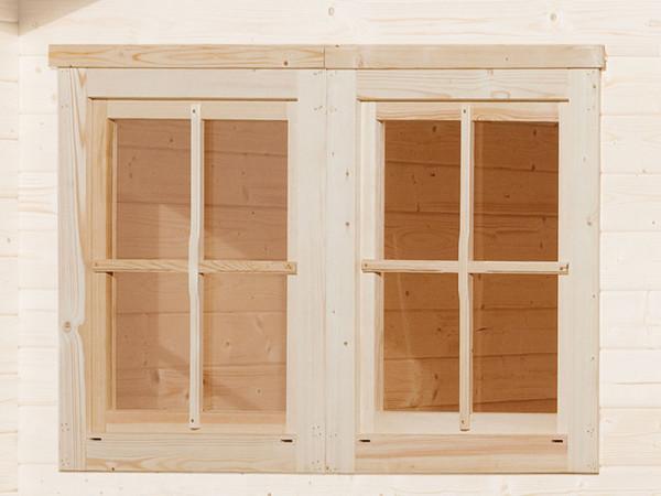 Doppelfenster für 45 mm, naturbelassen