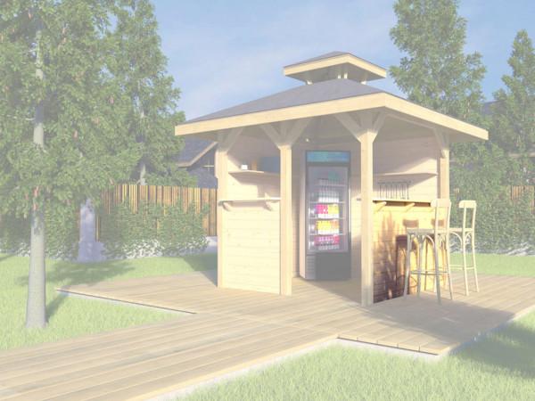 Bausatz Tresenwand für Gartenoase 651 Gr. 1