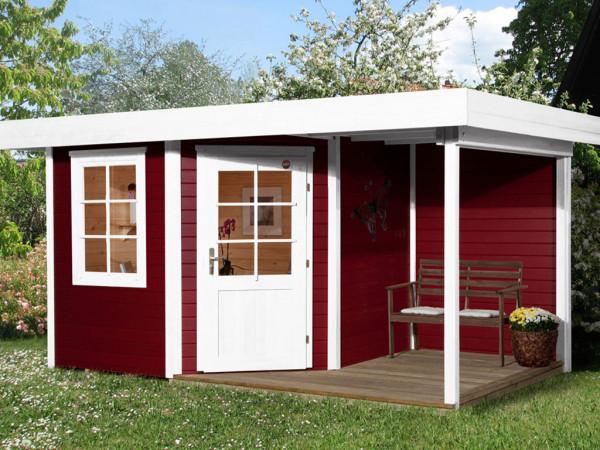Gartenhaus Designhaus 213 A Gr. 1 28 mm schwedenrot