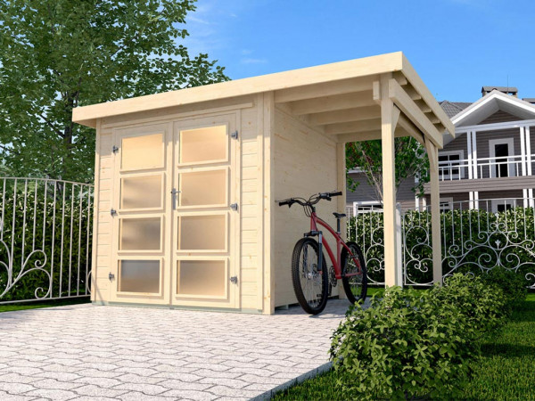 Gartenhaus 321 A Gr. 5 19 mm naturbelassen