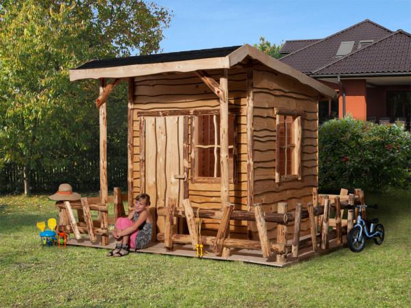 Spielhaus Abenteuerhaus naturbelassen inkl. Terrasse