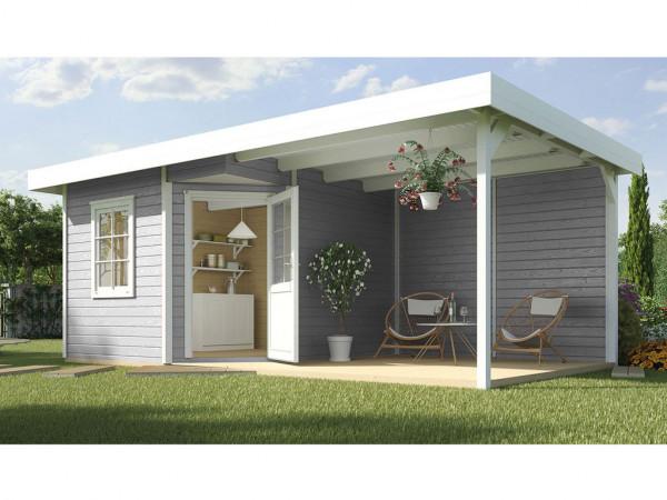 Gartenhaus Designhaus 213 B Gr. 1 28 mm grau