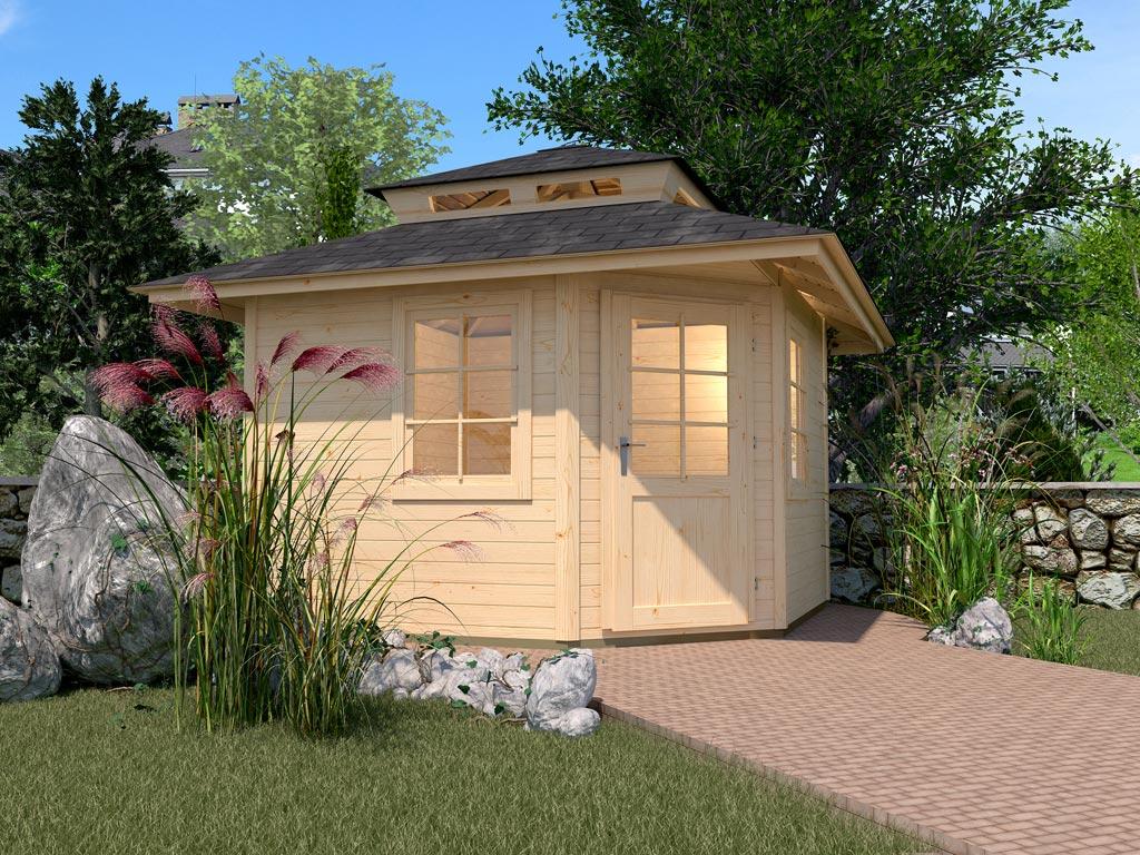 gartenhaus 149 a gr 2 28 mm naturbelassen spitzdach. Black Bedroom Furniture Sets. Home Design Ideas