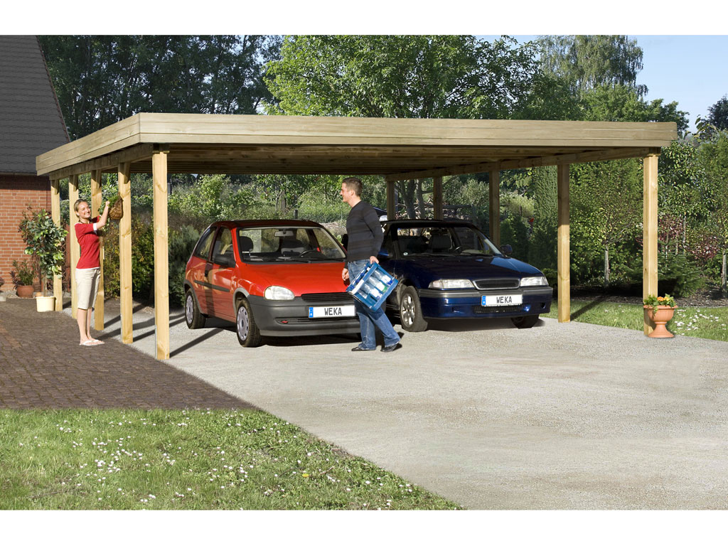 carport 609 gr 2 doppelcarports carports garten weka shop24. Black Bedroom Furniture Sets. Home Design Ideas