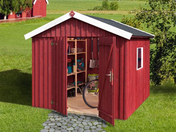 Gerätehaus Schwedenhaus Gr. 3 schwedenrot