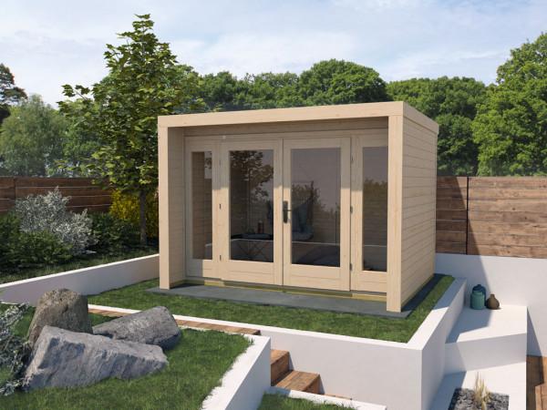 Gartenhaus Designhaus 263 Gr. 3 28 mm naturbelassen