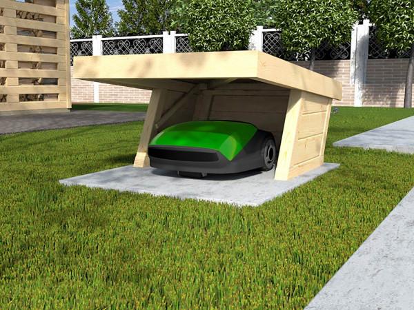 Mähroboter-Garage 367 A 21 mm naturbelassen