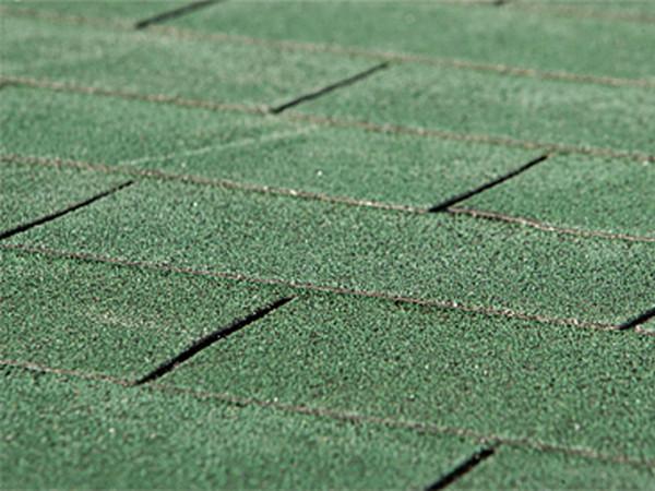 Bitumen Dachschindeln rechteckig grün 3 m²