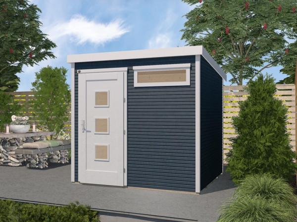 Gartenhaus Designhaus wekaLine 171 Gr. 2 28 mm anthrazit lasiert